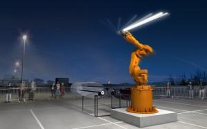 """""""Sender"""" ein Modell von realities united. Foto: Urbane Künste Ruhr/Johann Marburger"""