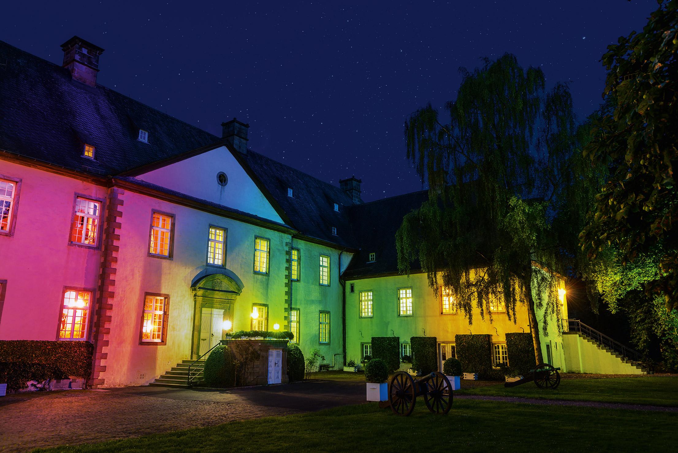 """Am 15. Januar beginnen die """"Schlosslichter"""" auf Schloss Wocklum. Foto: ©-Stefan-Denecke"""
