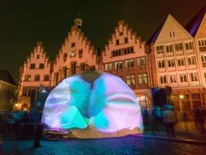 Der Frankfurter Römer bei der Musikmesse -prolight+sound 2014. Foto:  Jochen Günther / Messe Frankfurt Exhibition GmbH