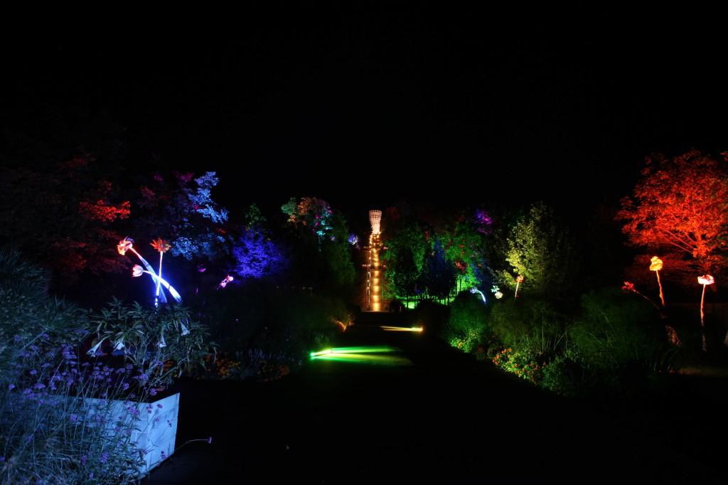 Der HrbstLichtgarten im Hemeraner Sauerlandpark ist bis 23. Oktober zu sehen.