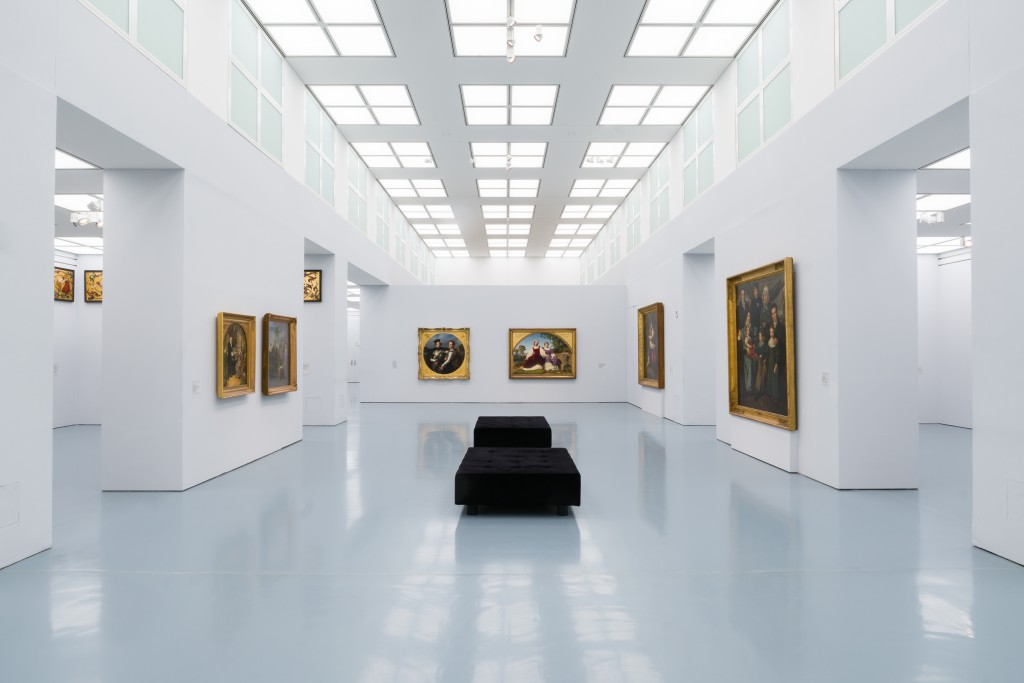 Insta hat 2000 Lichtfelder im Düsseldorfer Kunstpalast umgerüstet. Foto: Johannes Roloff